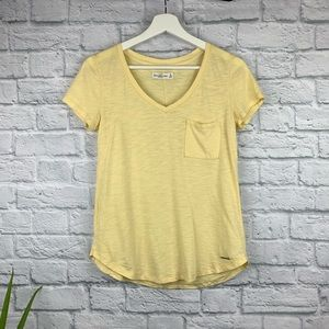 Abercrombie & Fitch Yellow Pocket T-Shirt 0060